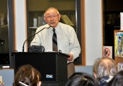 Photo: Francis da Silva Hiroshi Kashiwagi shares some of his World War II experiences at a December lecture.