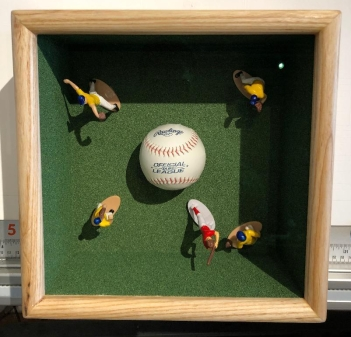 Dellert Baseball shadowbox