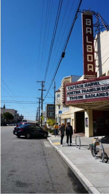 Balboa Theater marquee 1