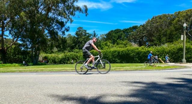 SS guy riding bike
