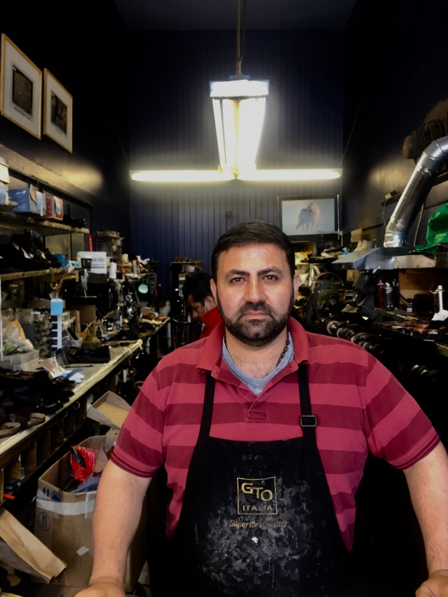 shoe repair shop owner