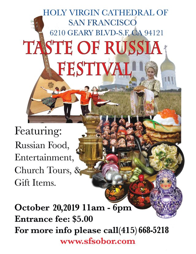Taste of Russia Fesival poster 2019
