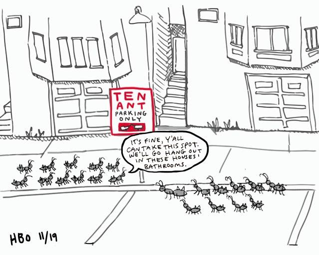 Ten-Ant-parking