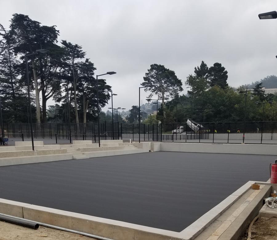 Tennis sunken court 6